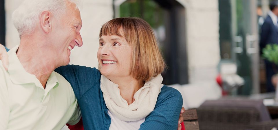 Denture Care Direct to the Public | Smiling couple